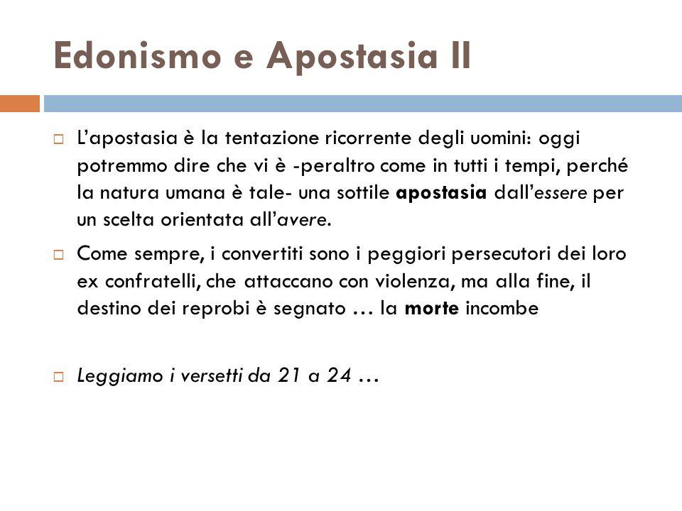 Edonismo e Apostasia II