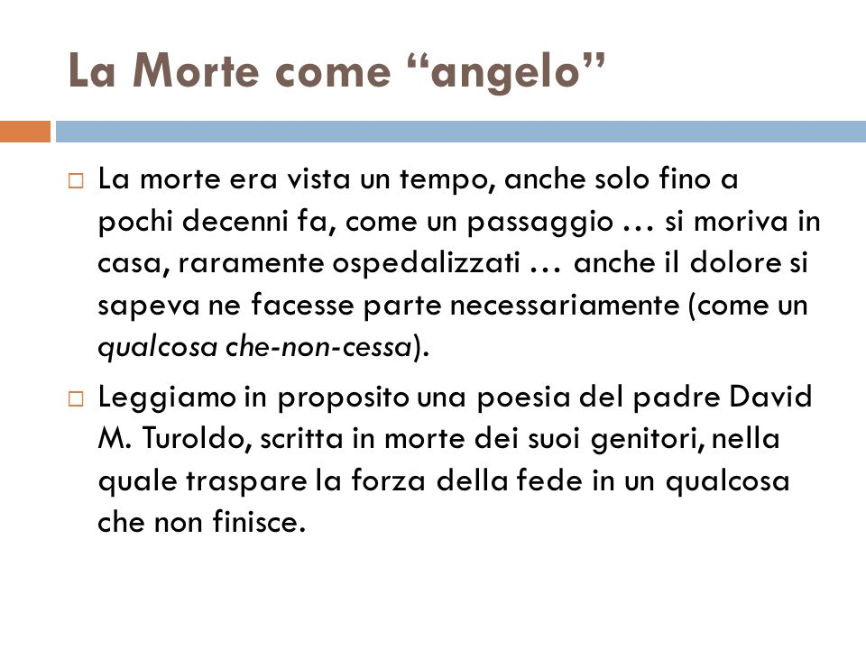 La Morte come angelo