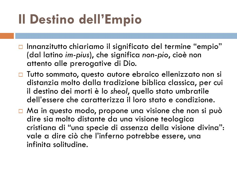 Il Destino dell'Empio