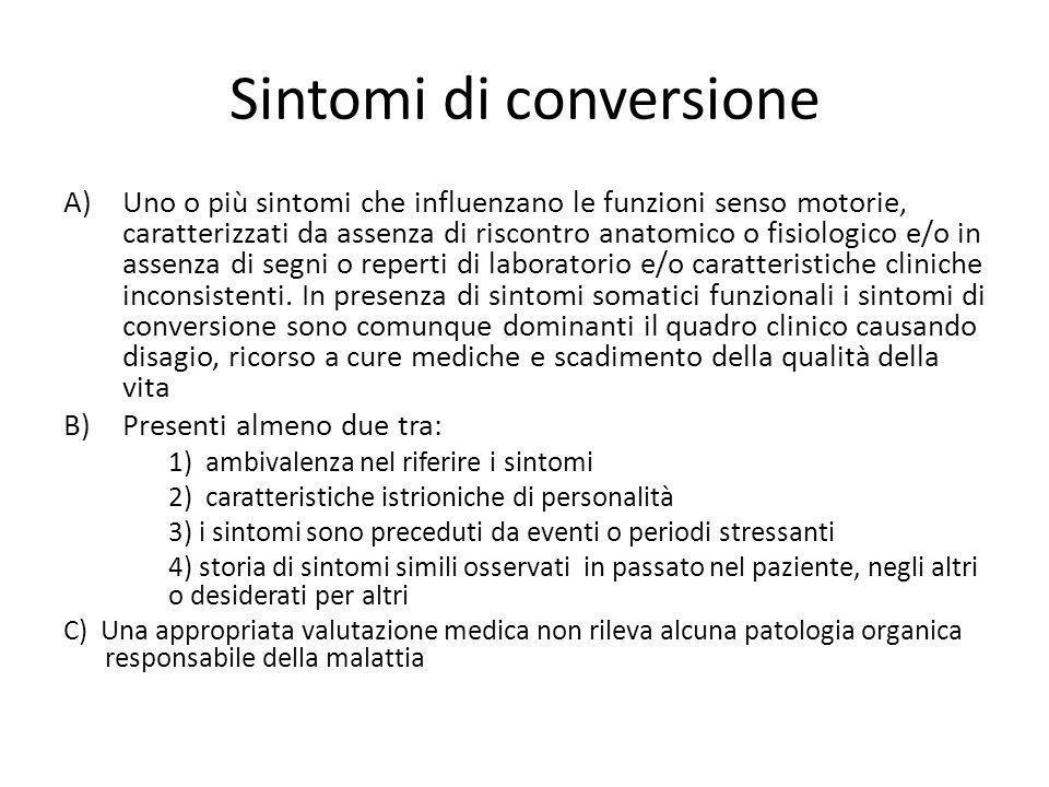 Sintomi di conversione