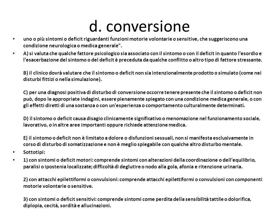 d. conversione
