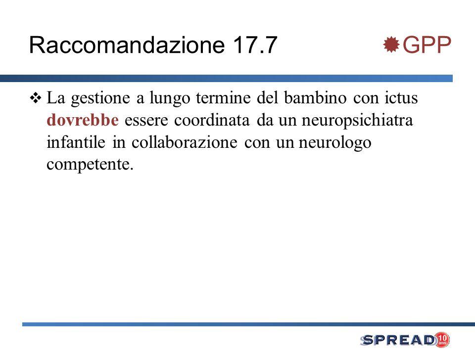 Raccomandazione 17.7 GPP