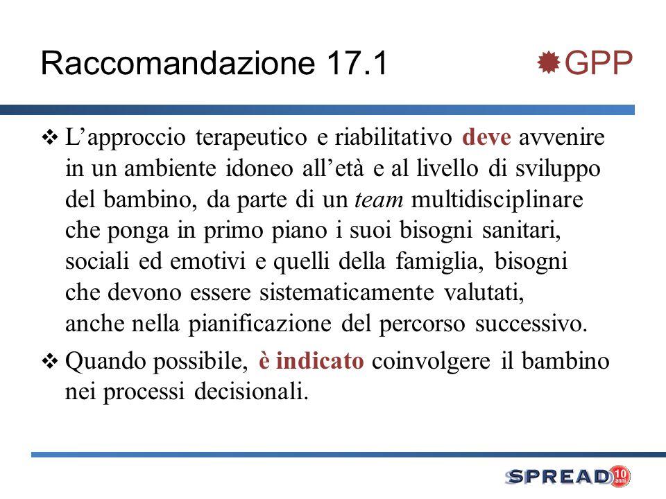 Raccomandazione 17.1 GPP