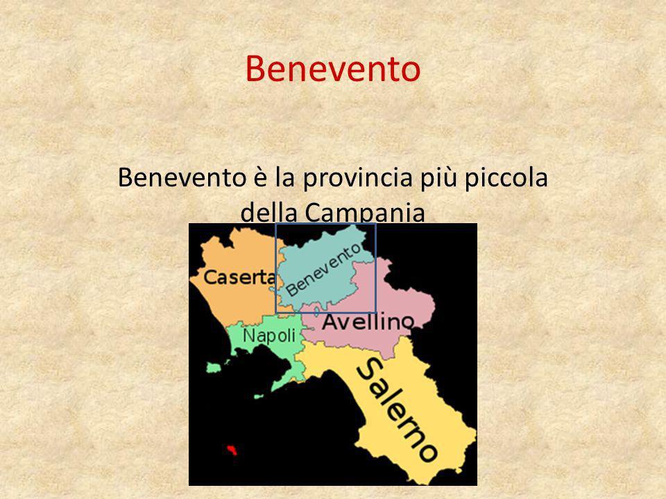 Benevento è la provincia più piccola della Campania