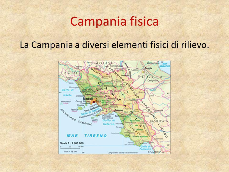La Campania a diversi elementi fisici di rilievo.