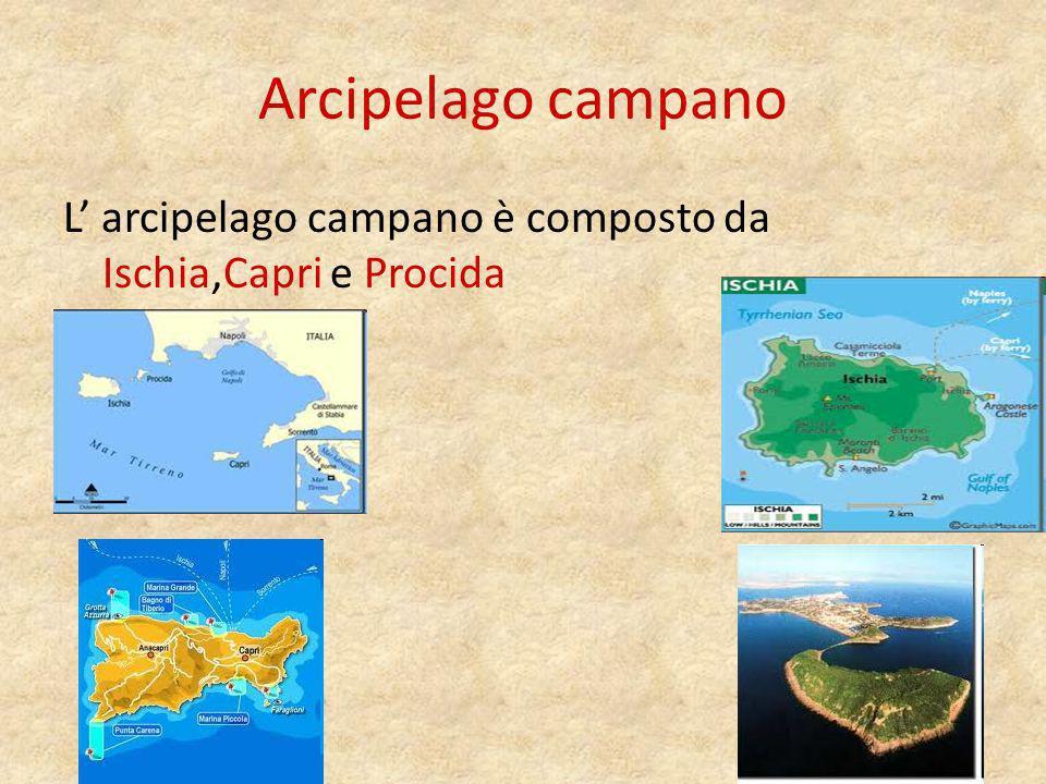 Arcipelago campano L' arcipelago campano è composto da Ischia,Capri e Procida