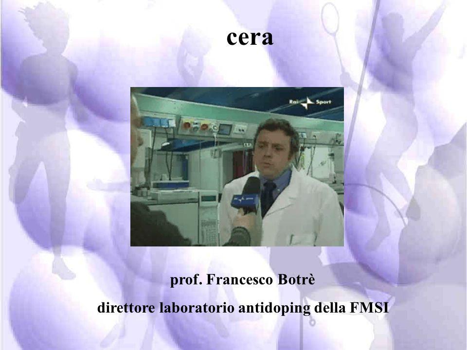 direttore laboratorio antidoping della FMSI