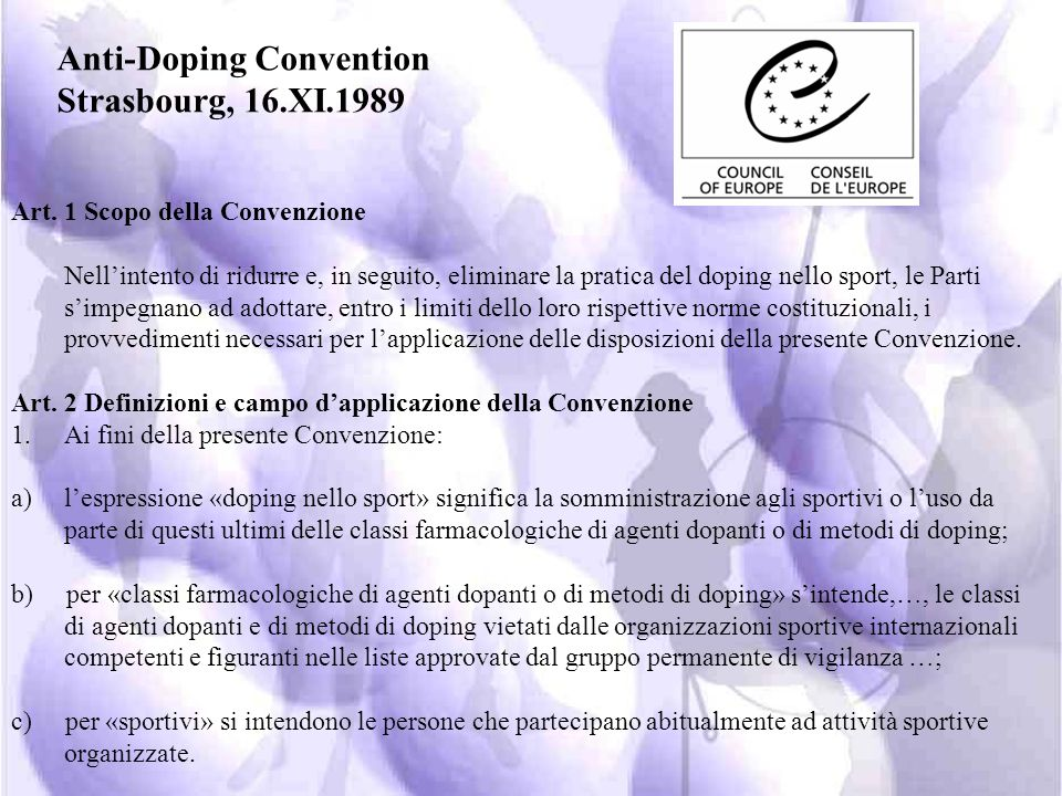 Anti-Doping Convention Strasbourg, 16.XI.1989