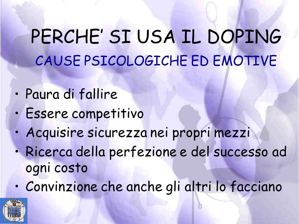 PERCHE' SI USA IL DOPING CAUSE PSICOLOGICHE ED EMOTIVE