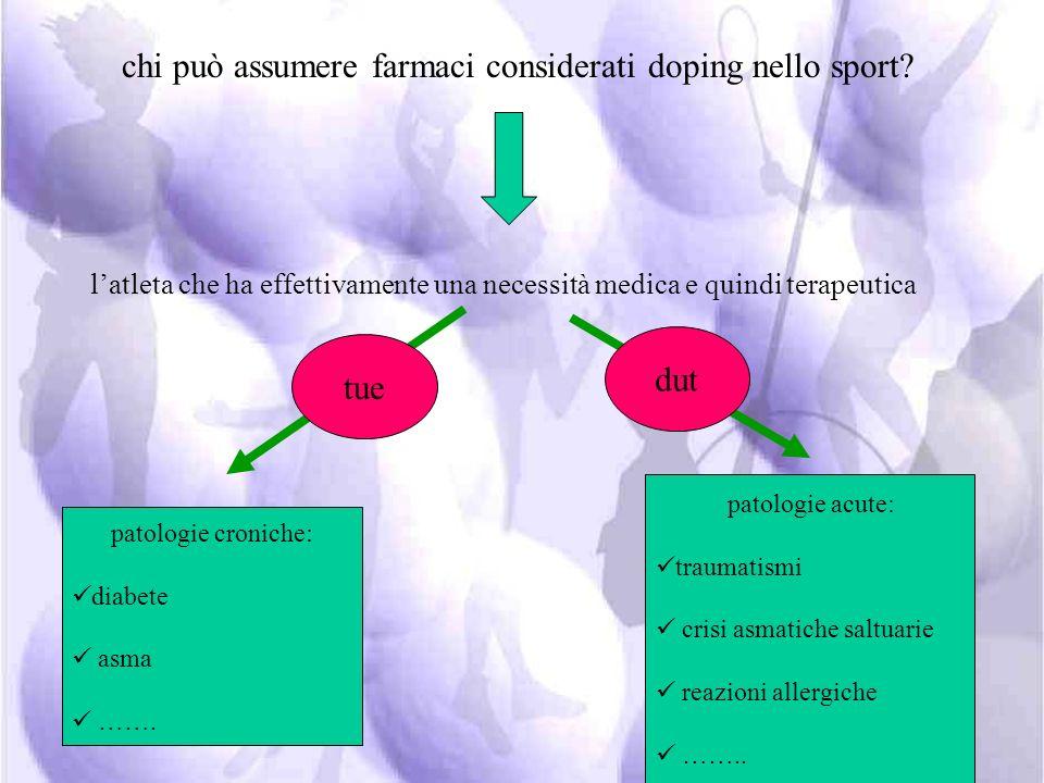 chi può assumere farmaci considerati doping nello sport
