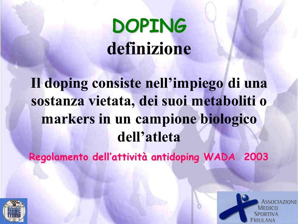 Regolamento dell'attività antidoping WADA 2003