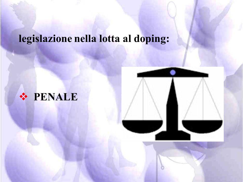legislazione nella lotta al doping: