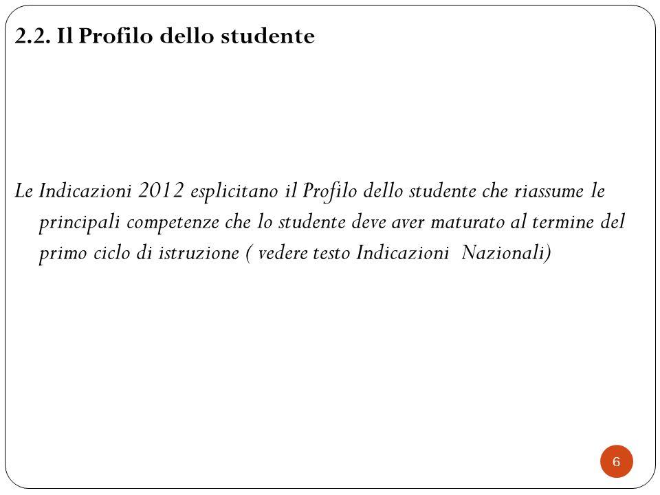 2.2. Il Profilo dello studente