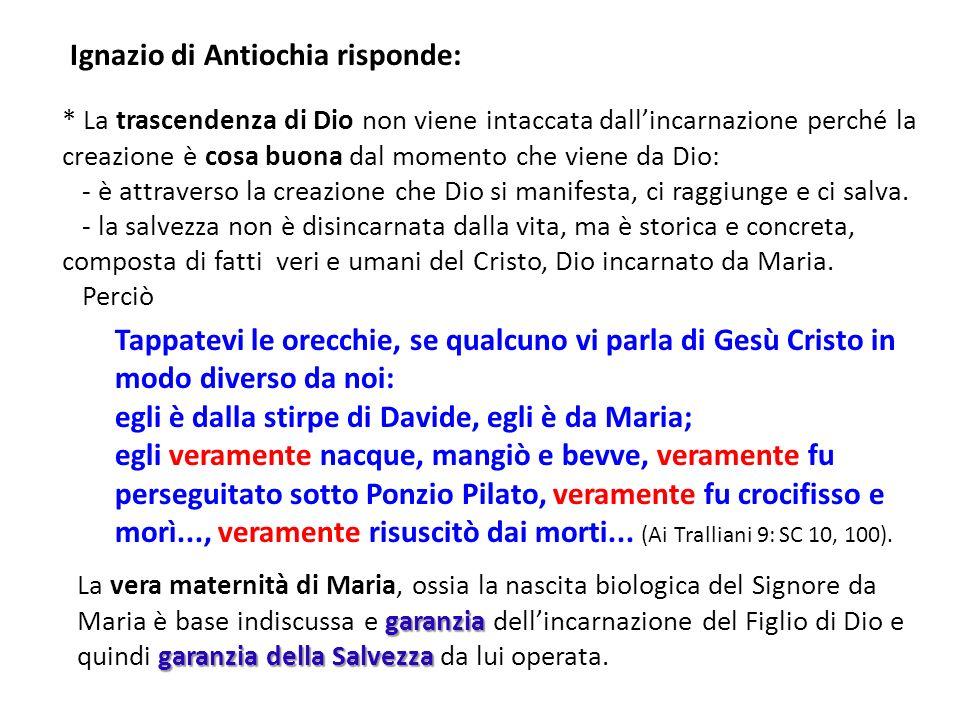 Ignazio di Antiochia risponde: