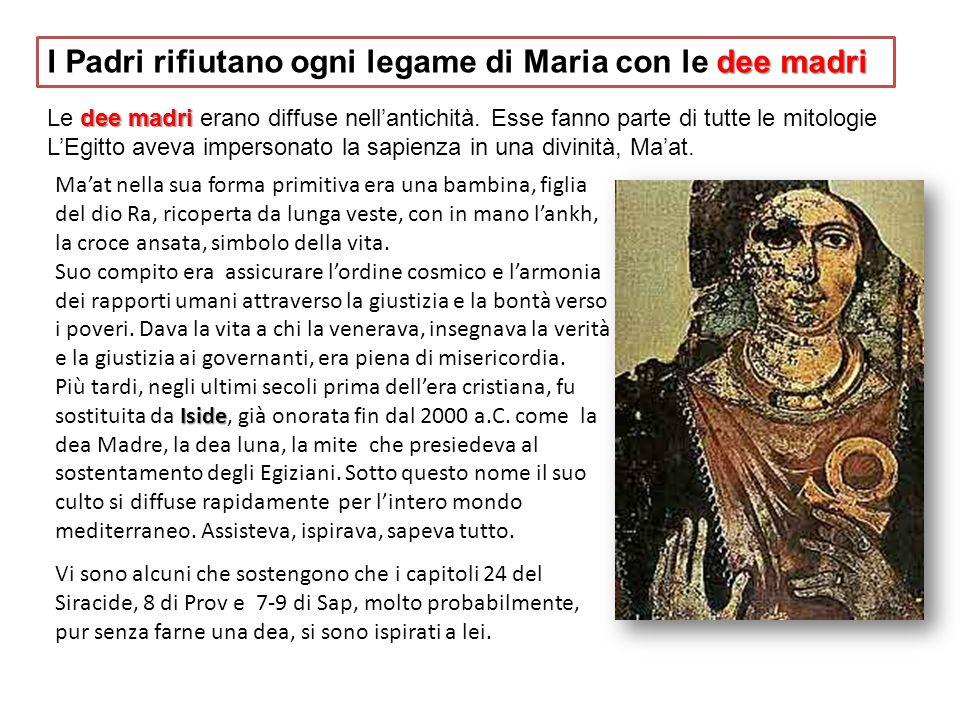 I Padri rifiutano ogni legame di Maria con le dee madri