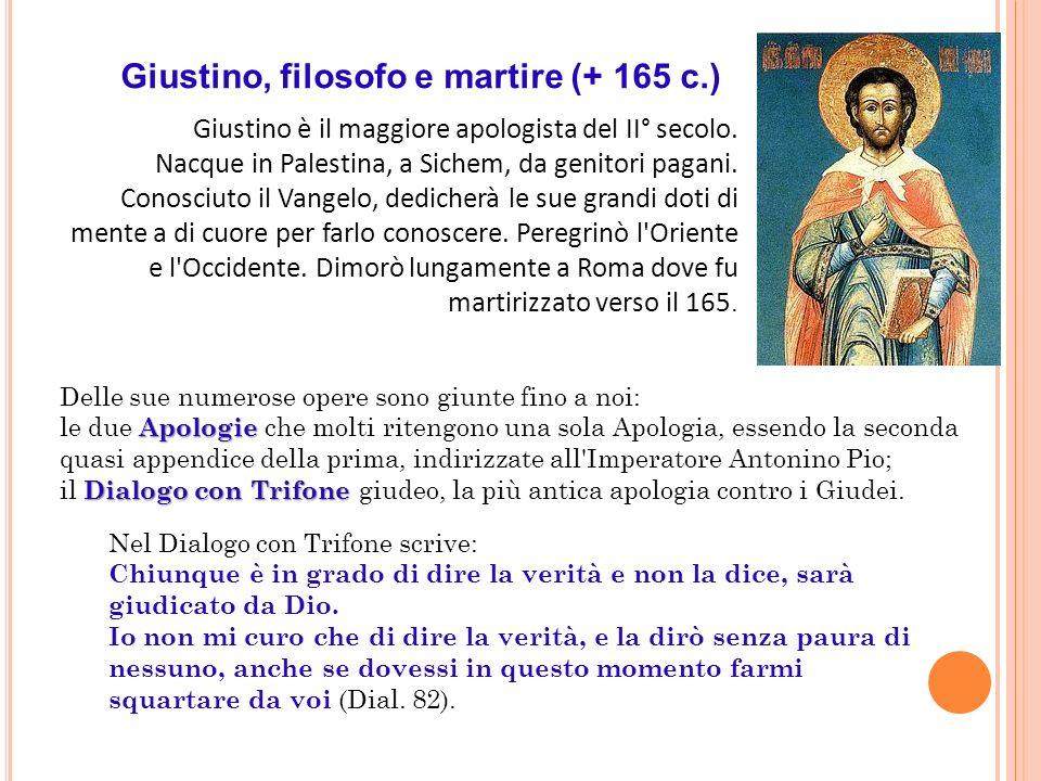 Giustino, filosofo e martire (+ 165 c.)
