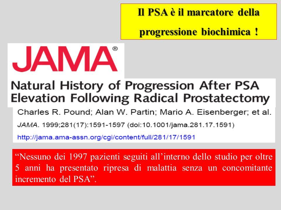 Il PSA è il marcatore della progressione biochimica !