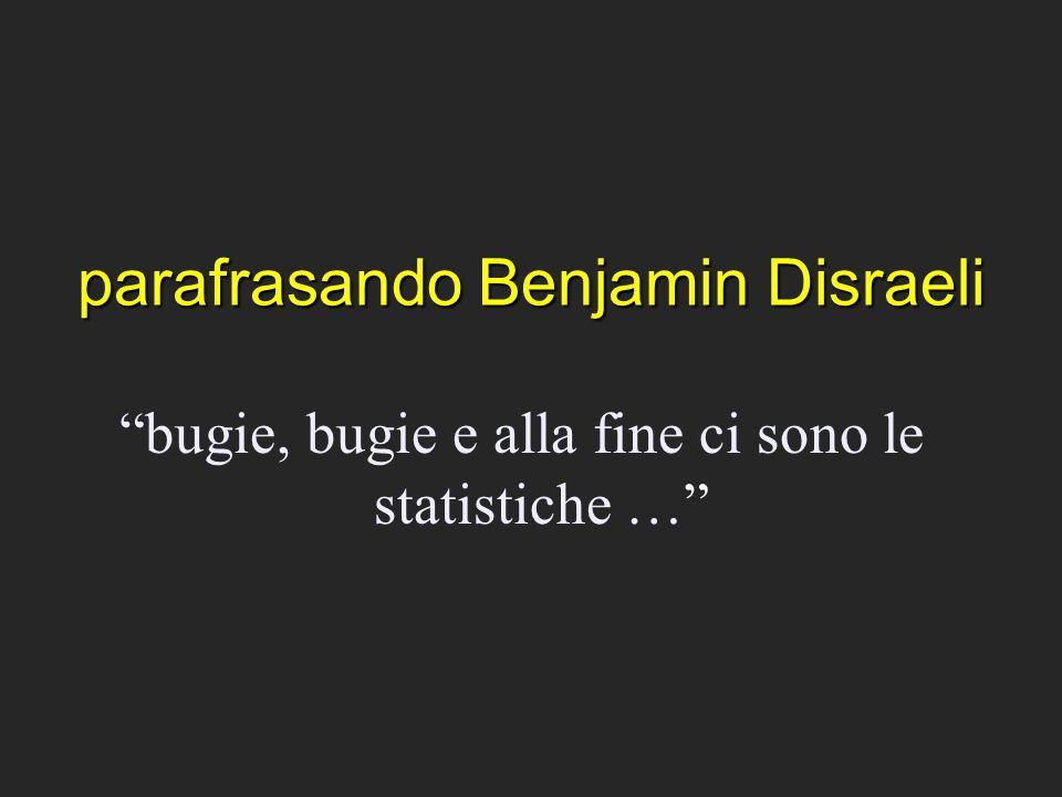 parafrasando Benjamin Disraeli