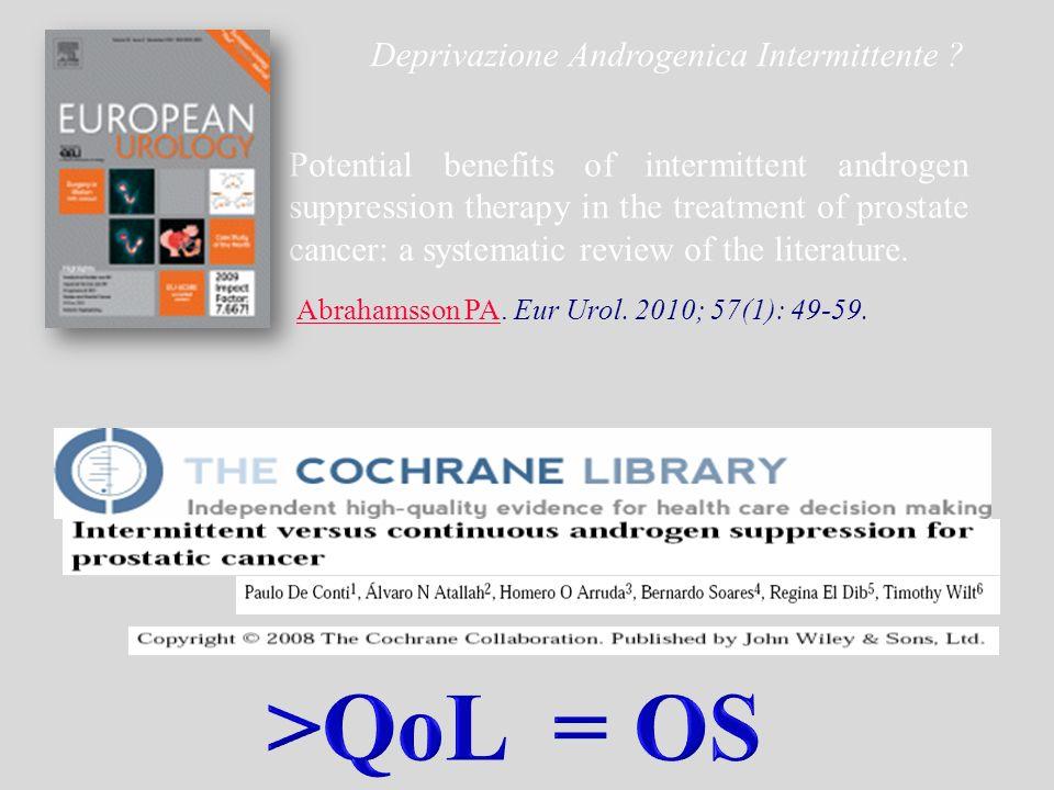 >QoL = OS Deprivazione Androgenica Intermittente