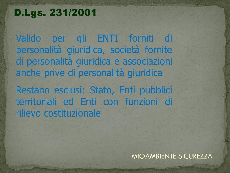 D.Lgs. 231/2001