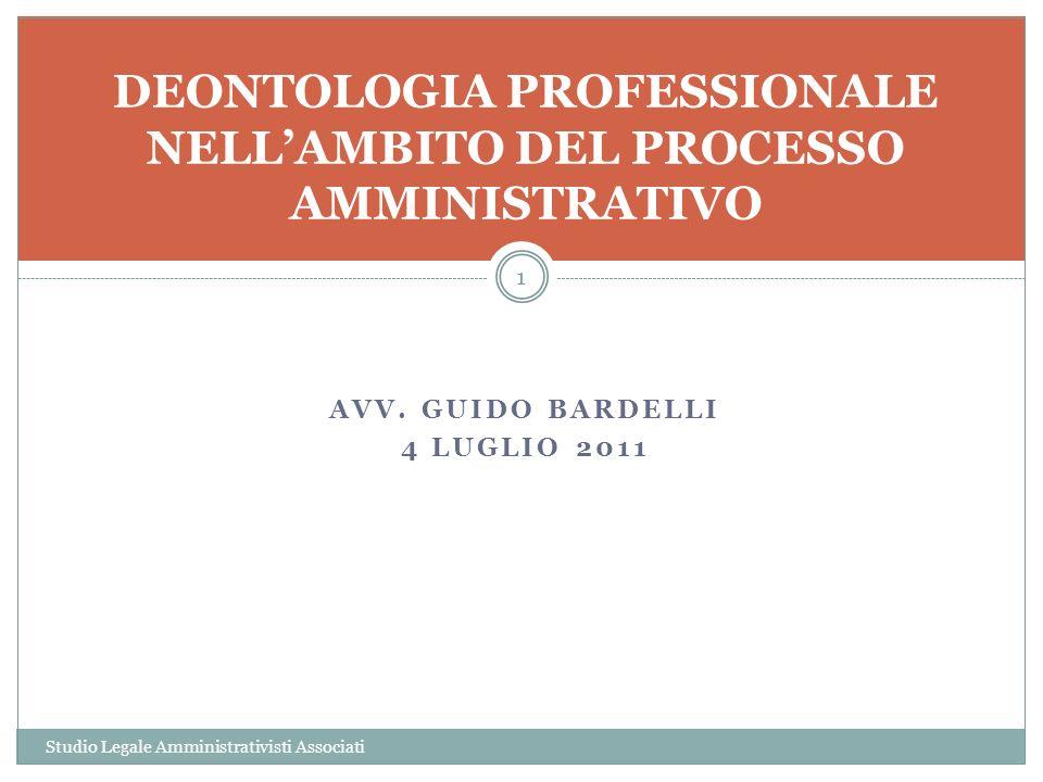 DEONTOLOGIA PROFESSIONALE NELL'AMBITO DEL PROCESSO AMMINISTRATIVO