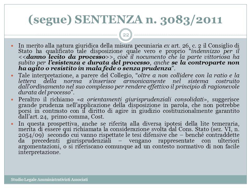 (segue) SENTENZA n. 3083/2011