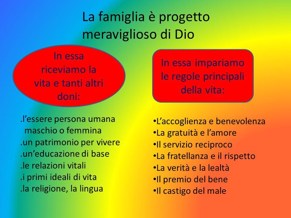 La famiglia è progetto meraviglioso di Dio