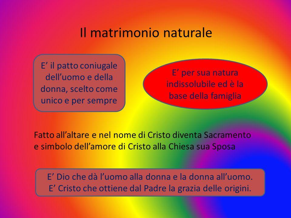 Il matrimonio naturale