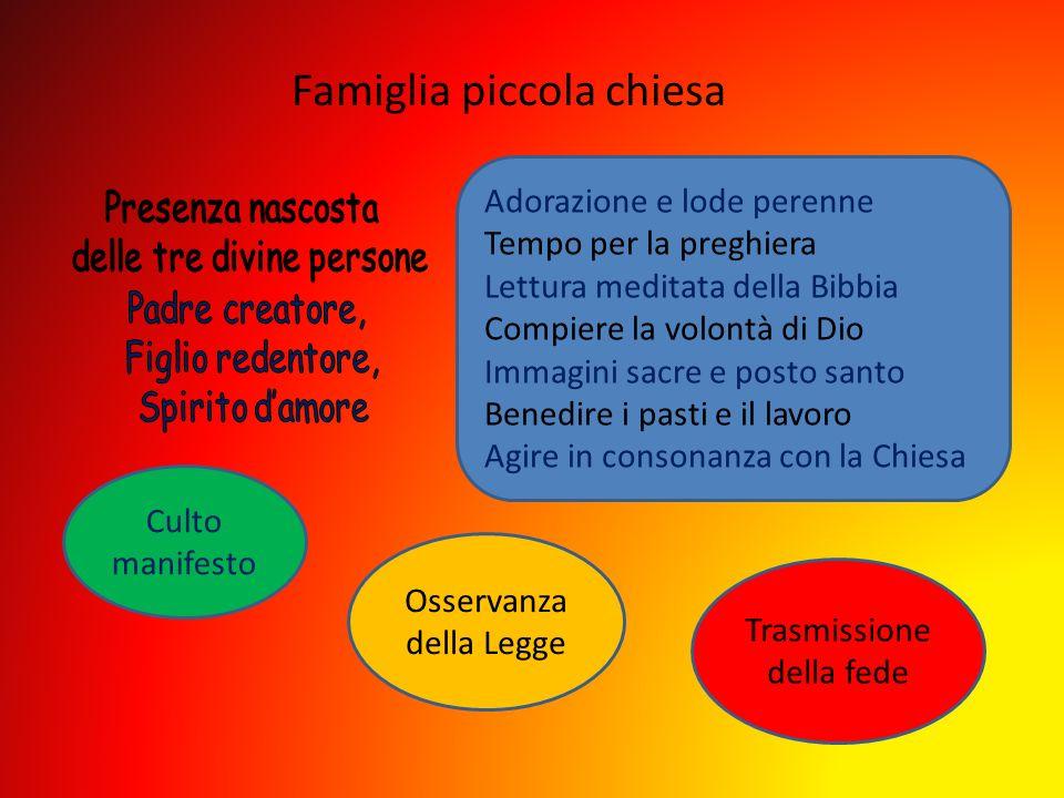 Famiglia piccola chiesa
