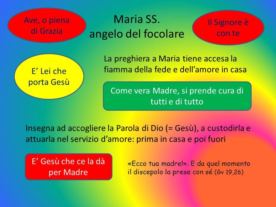 Maria SS. angelo del focolare Ave, o piena di Grazia