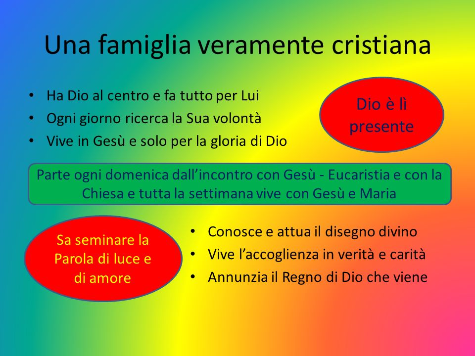 Una famiglia veramente cristiana
