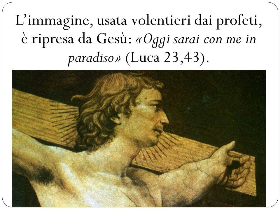 L'immagine, usata volentieri dai profeti, è ripresa da Gesù: «Oggi sarai con me in paradiso» (Luca 23,43).