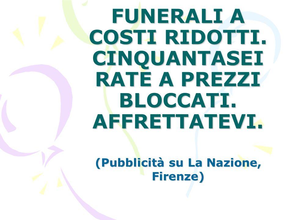 (Pubblicità su La Nazione, Firenze)