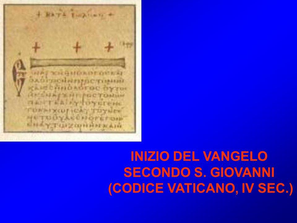 (CODICE VATICANO, IV SEC.)