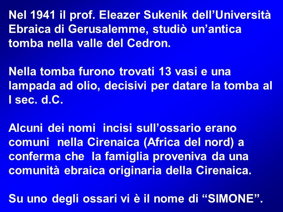 Nel 1941 il prof. Eleazer Sukenik dell'Università Ebraica di Gerusalemme, studiò un'antica tomba nella valle del Cedron.