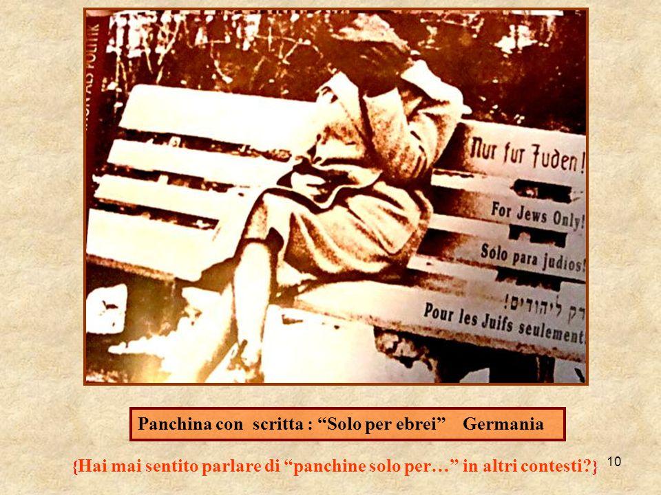 Panchina con scritta : Solo per ebrei Germania