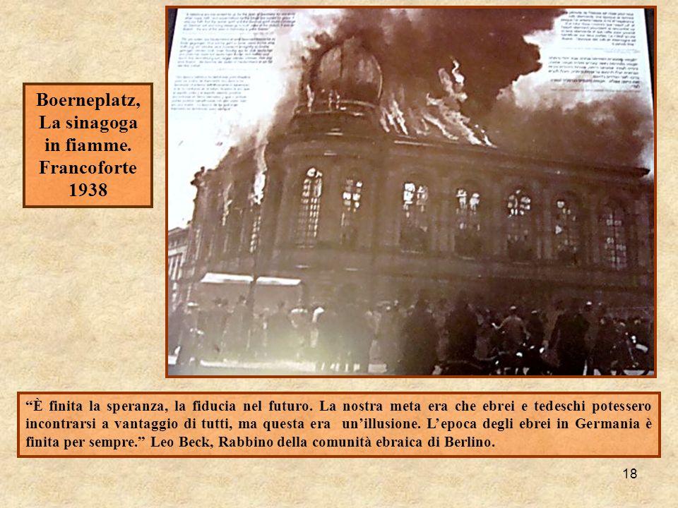 Boerneplatz, La sinagoga in fiamme.