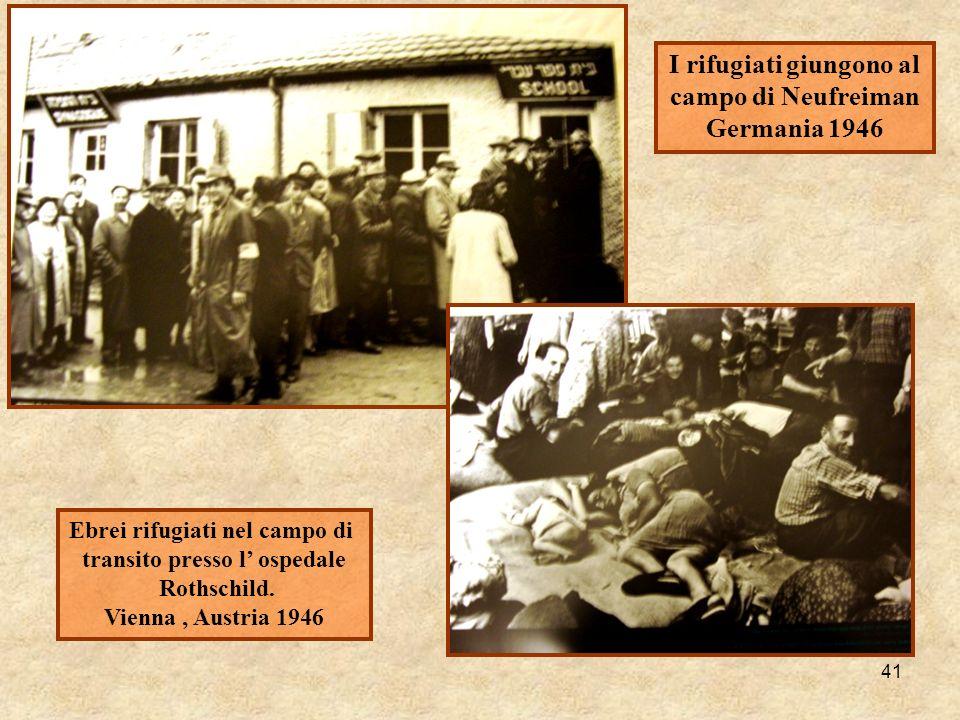 I rifugiati giungono al campo di Neufreiman Germania 1946