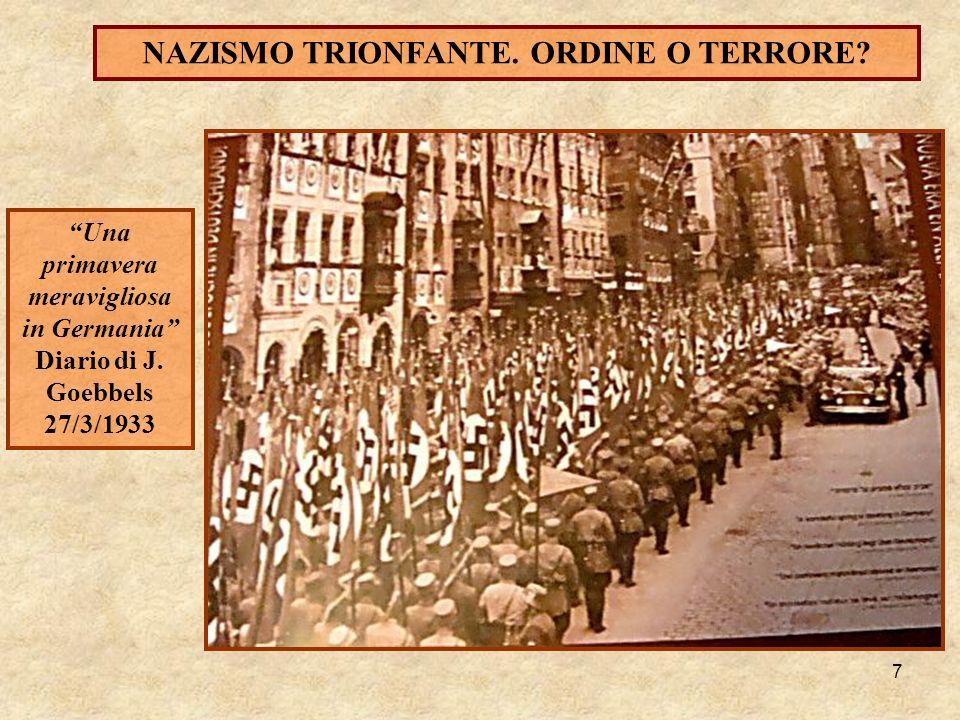 NAZISMO TRIONFANTE. ORDINE O TERRORE