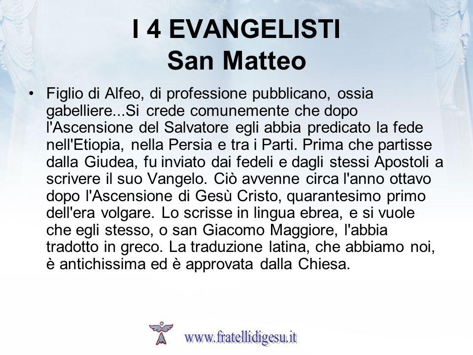 I 4 EVANGELISTI San Matteo