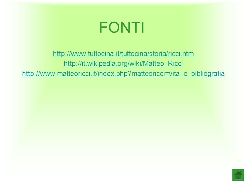 FONTI http://www.tuttocina.it/tuttocina/storia/ricci.htm