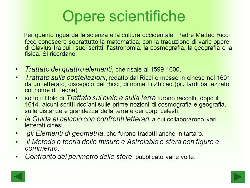 Opere scientifiche