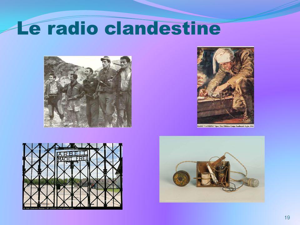 Le radio clandestine
