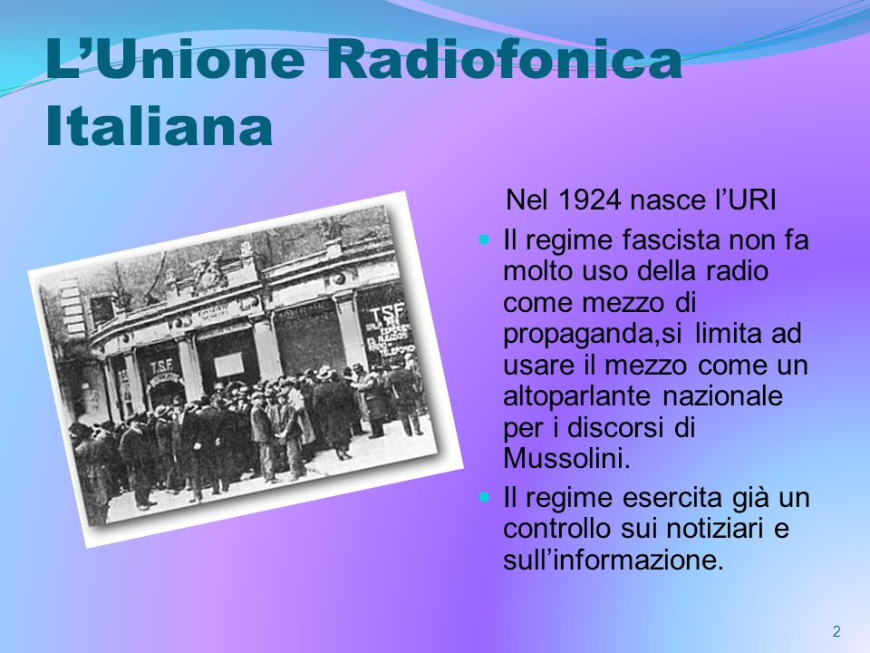 L'Unione Radiofonica Italiana