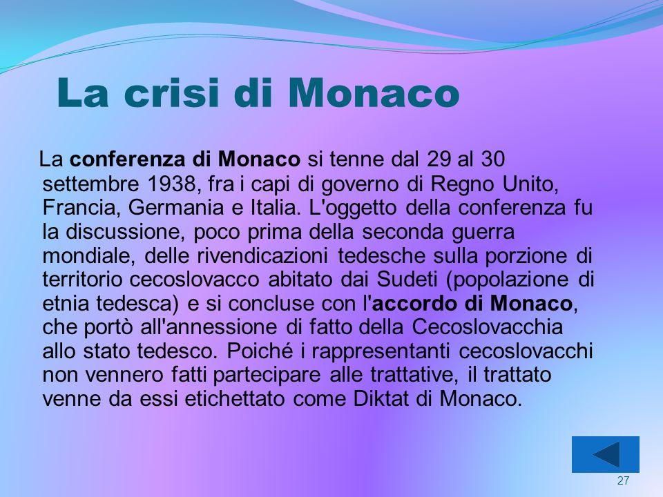 La crisi di Monaco