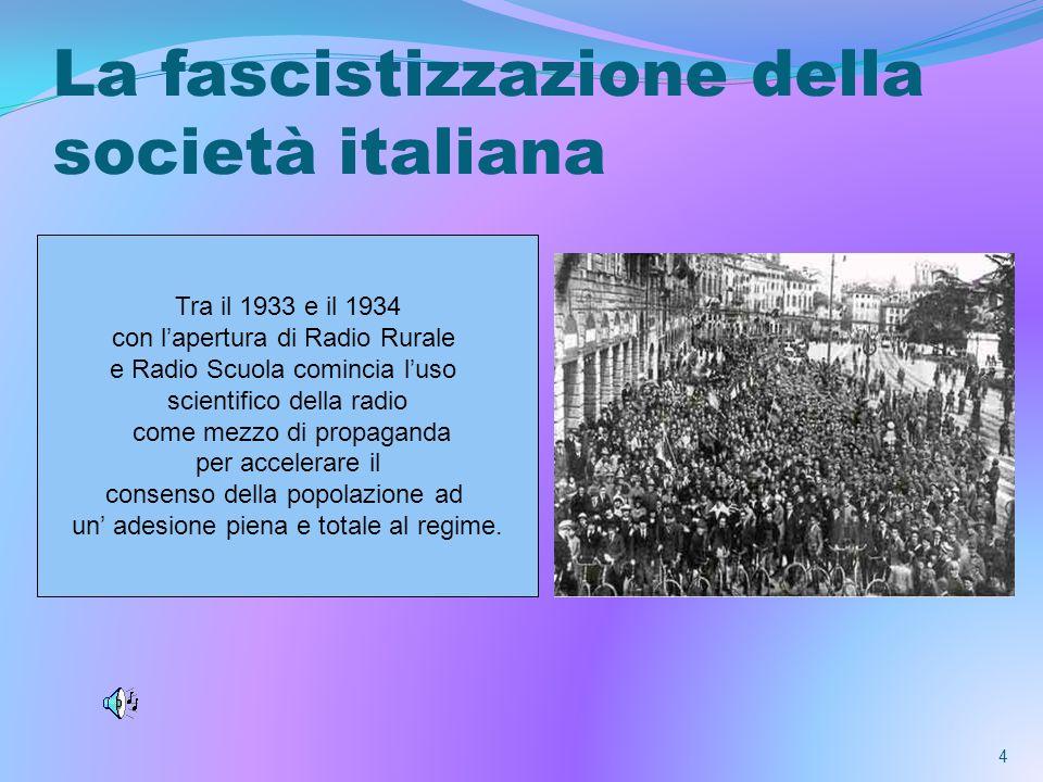 La fascistizzazione della società italiana
