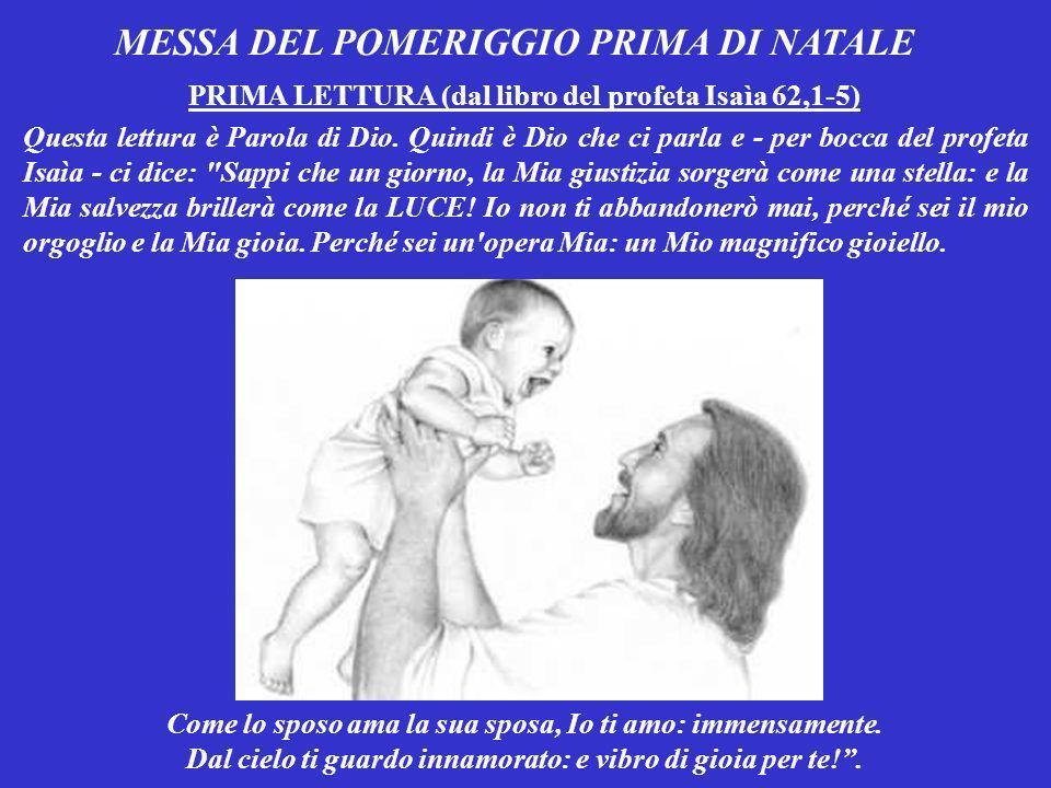 MESSA DEL POMERIGGIO PRIMA DI NATALE
