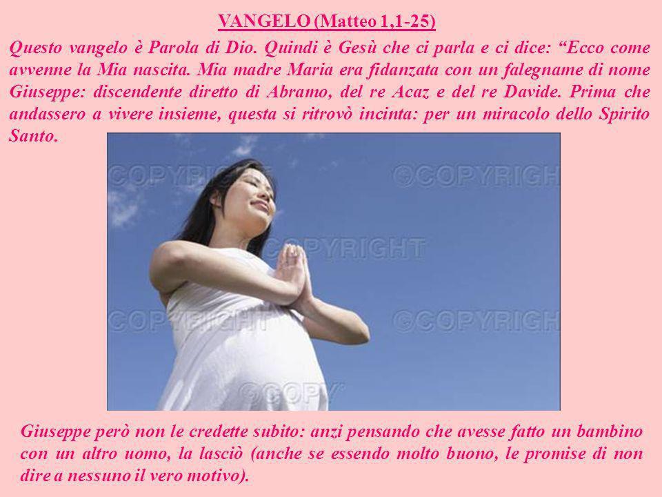 VANGELO (Matteo 1,1-25)