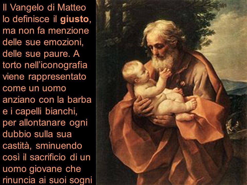 Il Vangelo di Matteo lo definisce il giusto, ma non fa menzione delle sue emozioni, delle sue paure.