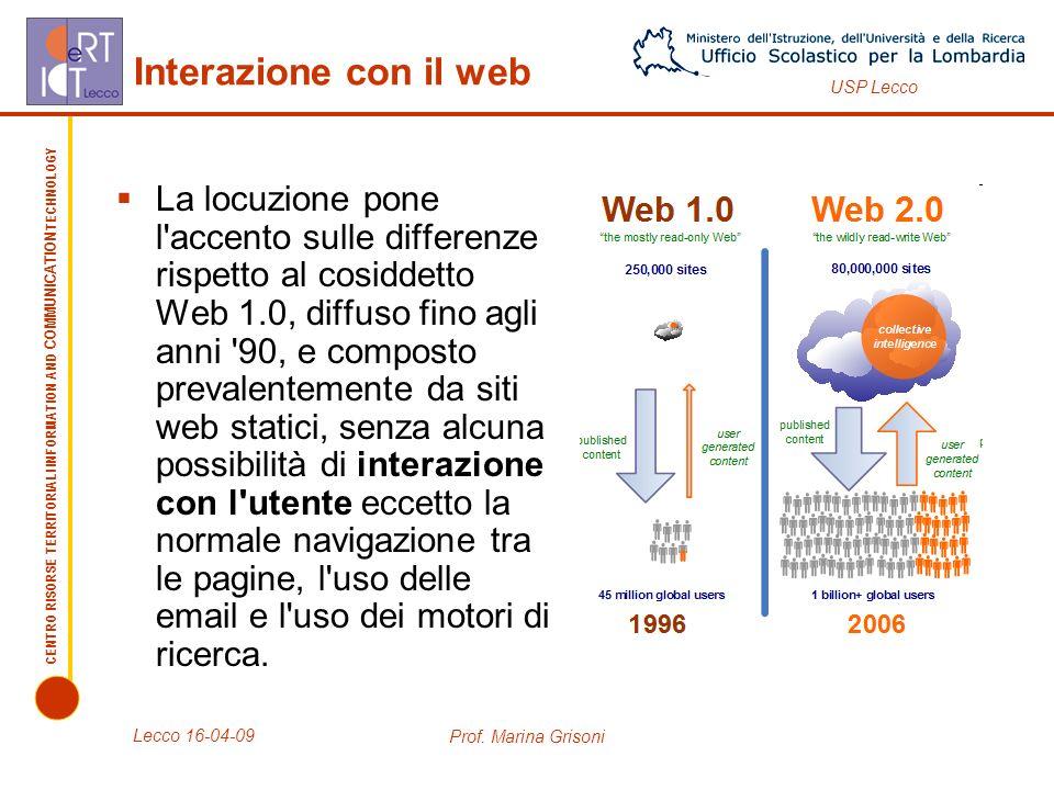 Interazione con il web